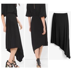 NEW WHITE HOUSE BLACK MARKET ASYMMETRIC MAXI SKIRT